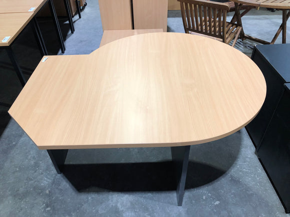 Beech and Ironstone - Unique Shape Table