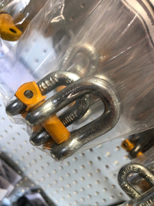 "D Shackles 3.8"" (10mm) Rated 1000kg"