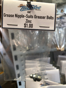 Grease Nipple - Suits Greaser Bolts - Zinc