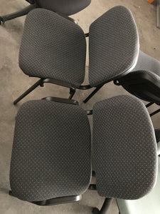 Visitors Chair, Grey Pattern Fabric, Stackable