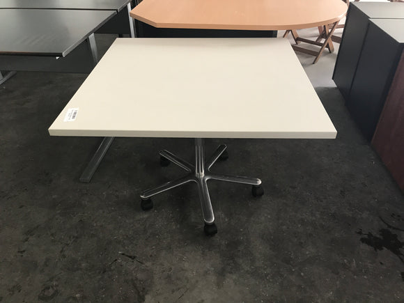 White Square Mobile Table