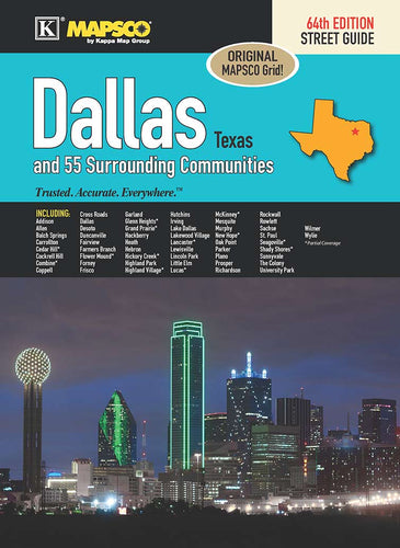 Dallas Texas Steet Guide 64th Ed