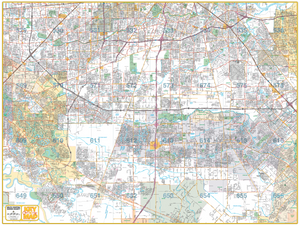 South Central Harris County - Houston Map Company