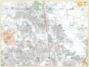 Spring/ The Woodlands - Houston Map Company