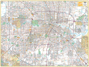 Central Houston - 610 Loop - Houston Map Company