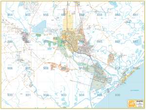 Lake Jackson/ Freeport - Houston Map Company