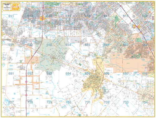 North Central Brazoria County - Houston Map Company