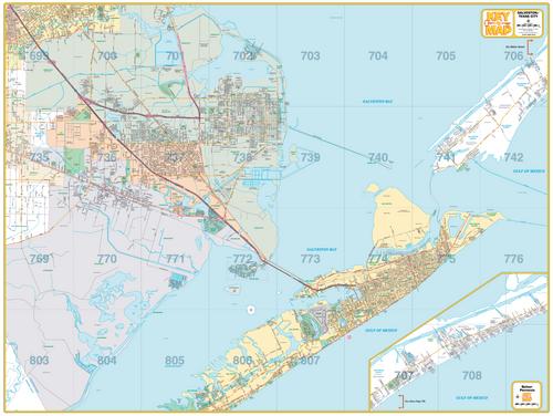 Galveston - Texas City - Houston Map Company