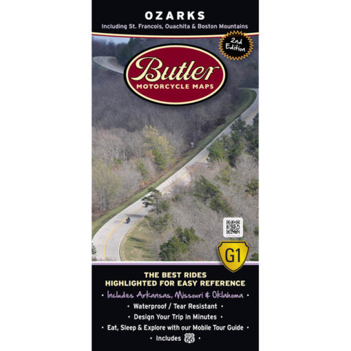 The Ozarks Folding Map - Butler - Houston Map Company