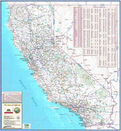 California Reference Wall Map - Houston Map Company
