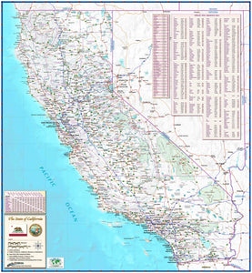 California Reference Wall Map