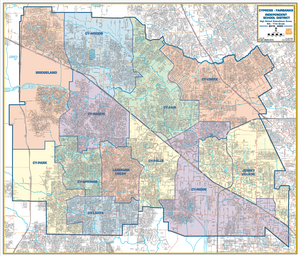 CyFair ISD Wall Map - 2019/2020