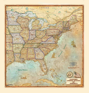 Eastern USA Antique - Houston Map Company