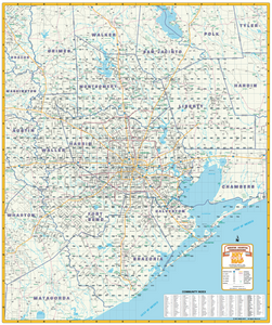 Greater Houston Thoroughfares - 2018 - Houston Map Company