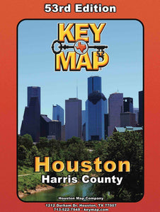 No Tax Harris County Key Map Atlas 53rd Ed - Houston Map Company
