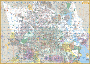 Harris County Wall Map - 2019 - Houston Map Company