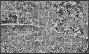 Houston Aerial Black & White 2020