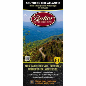 Southern Mid-Atlantic Folding Map - Butler - Houston Map Company