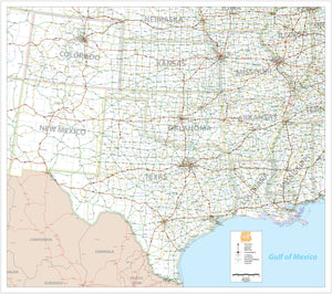 South Central USA - Houston Map Company