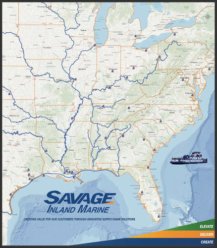 Savage Inland Marine - Houston Map Company