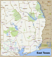 2020 Louisiana / Texas Border: Storm Relief Map