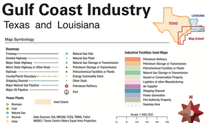 2021 Gulf Coast Industrial Map - Texas & Louisiana