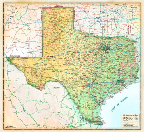 Antique Texas Bold - 2018 - Houston Map Company