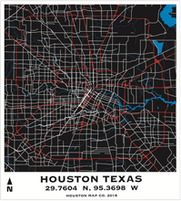 Houston Maps Decorative Series
