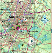Texas Hill Country & Wine Wall Map - Houston Map Company