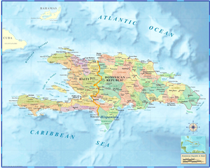 Haiti/Dominican Republic Wall Map - Houston Map Company