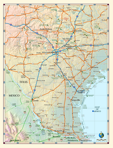 South Texas Map - Houston Map Company