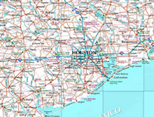 Texas Reference Wall Map - Houston Map Company