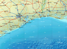Gulf of Mexico Map - Houston Map Company