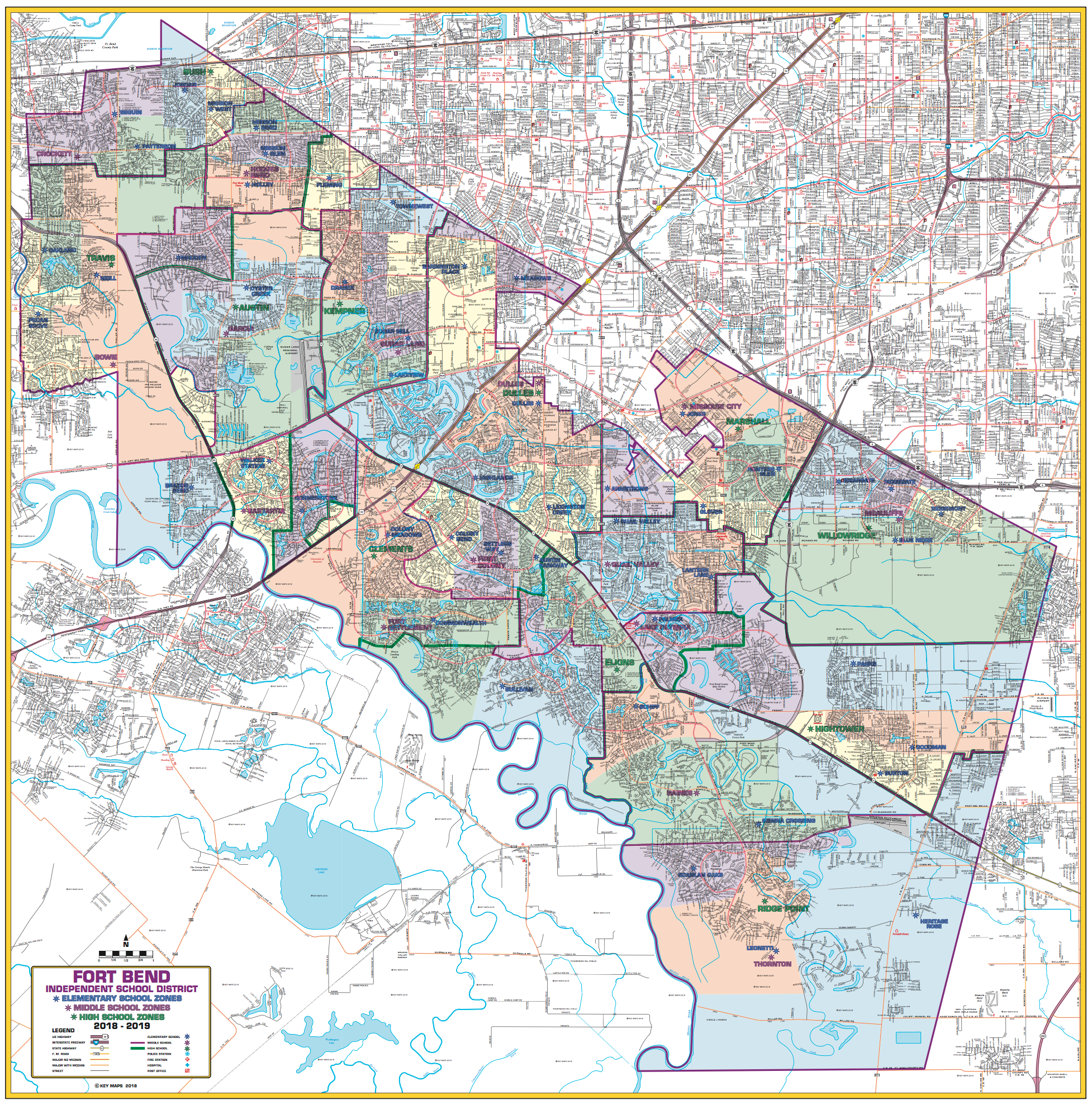 Fort Bend ISD Wall Map
