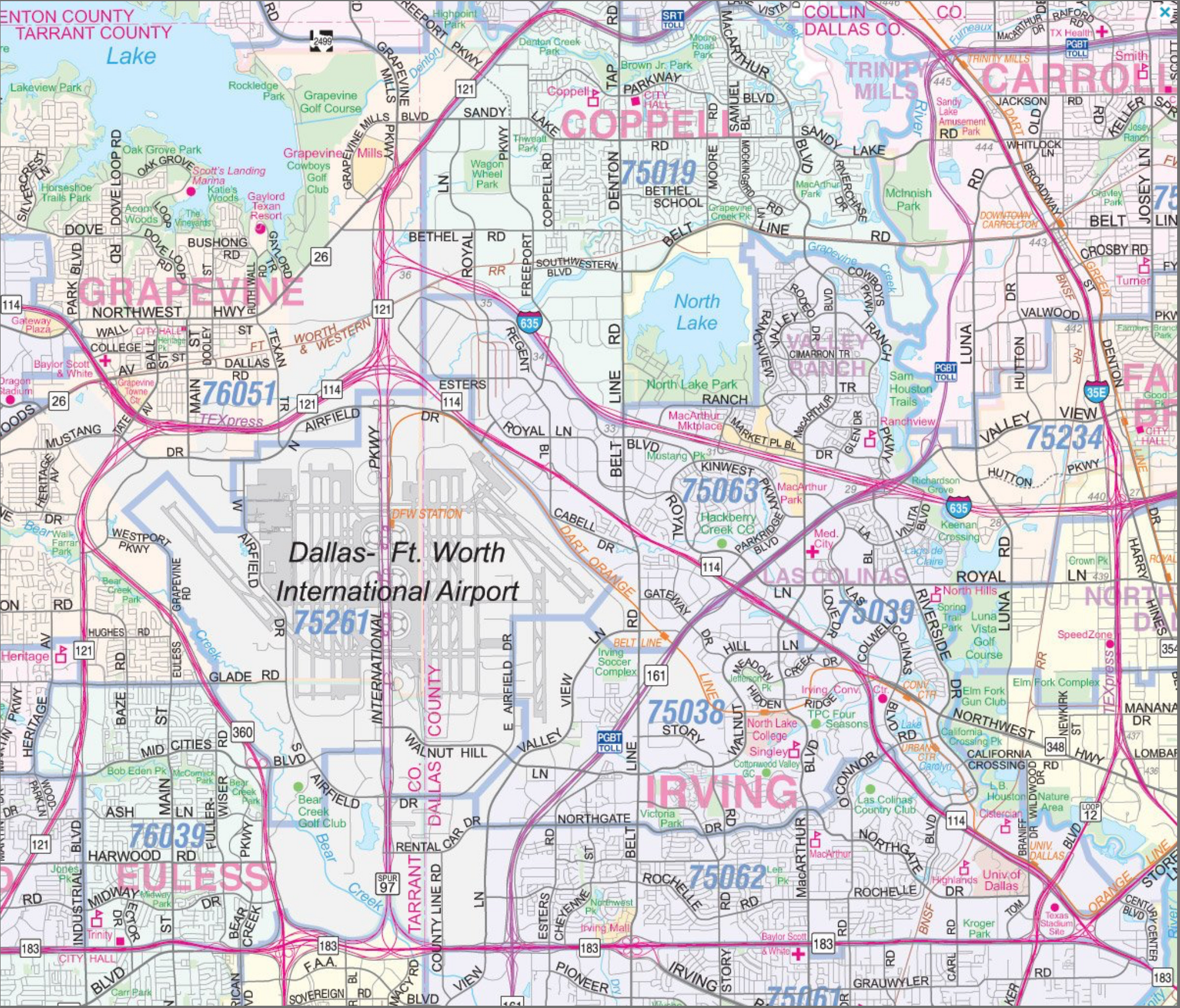 Dallas Wall Map Houston Map Company