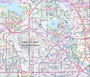 Dallas Wall Map - Houston Map Company