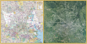 Harris County - School Districts - Double View - Houston Map Company