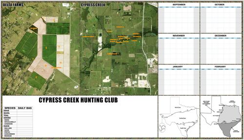 Hunting Property Map + - Houston Map Company