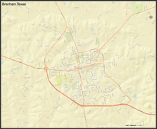 Brenham Texas Mini-Map - Houston Map Company