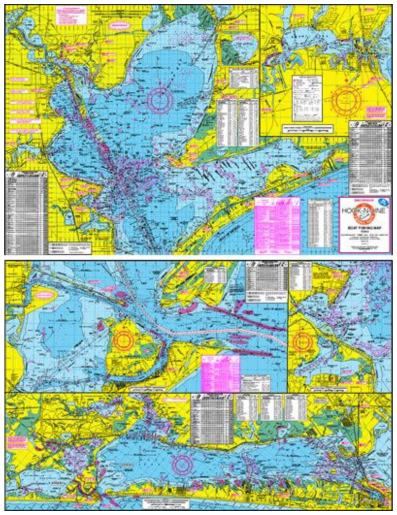Boat Fishing Map - Houston Map Company