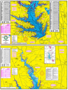 Lake Conroe Fishing Map - Houston Map Company