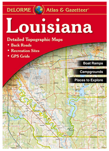 Louisiana DeLorme Atlas - Houston Map Company