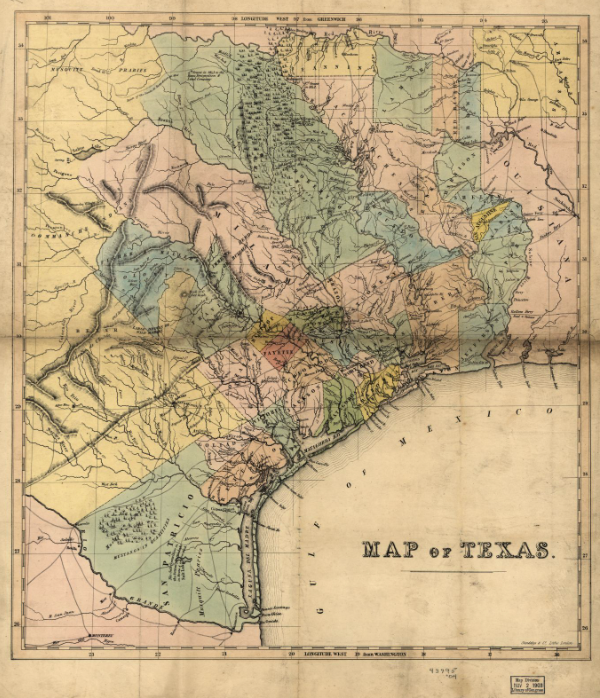 Map of Texas 1840