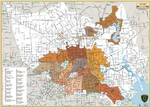 Houston Police Beat Map - Houston Map Company