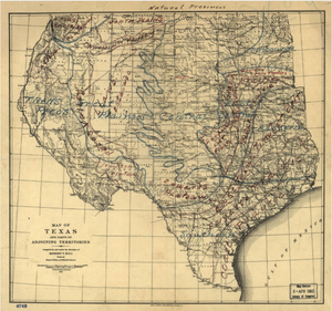 Texas Natural Provinces - Houston Map Company