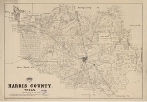 Map of Harris County Texas 1879 - Houston Map Company