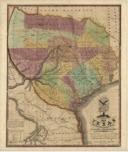 Texas 1837 - Houston Map Company