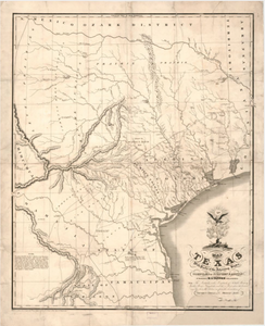 Texas 1830 - Houston Map Company