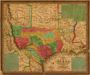 Texas 1835 - Houston Map Company