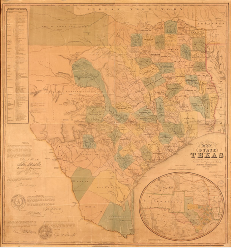 State of Texas Map - Houston Map Company